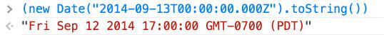 JavaScript Date WAT