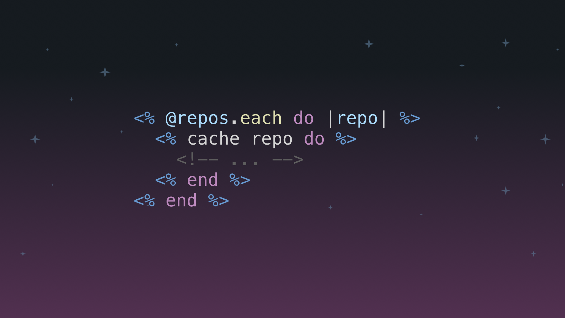 Cache example code