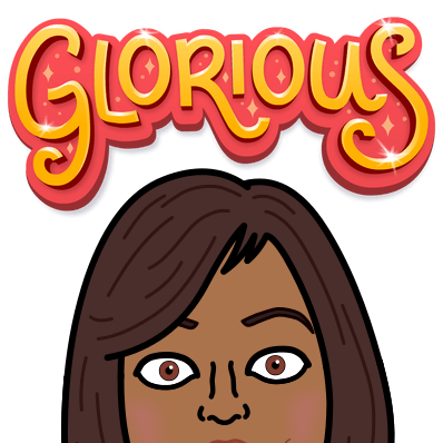 "A Bitmoji with the slogan ""Glorious"""