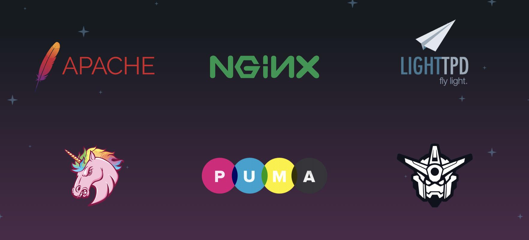 Logos of web servers